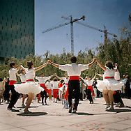 Poble Nou, Barcelona..A country dance competition at Poble Nou's park.
