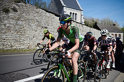 Sabrina Stultiens (NED) leads the chase at La Flèche Wallonne Femmes 2018, a 118.5 km road race starting and finishing in Huy on April 18, 2018. Photo by Sean Robinson/Velofocus.com