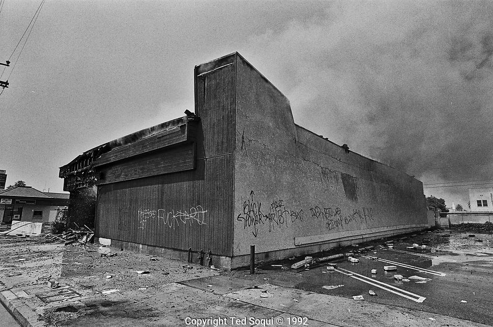 Riot damage.