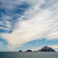 Islands on the northwest coast of South Georgia Island.