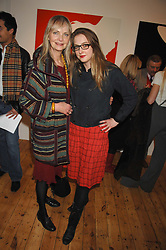 Left to right, JAN DE VILLENEUVE and her daughter DAISY DE VILLENEUVE at an exhibition of artist Natasha Law's work entitled 'Room' hosted by the Eleven gallery in association with Ruinart champagne at 121 Charing Cross Road, London WC2 on 16th January 2008.  Following the private view a dinner was held at Soho House hosted by Ruinart.<br /> <br />  (EMBARGOED FOR PUBLICATION IN UK MAGAZINES UNTIL 1 MONTH AFTER CREATE DATE AND TIME) www.donfeatures.com  +44 (0) 7092 235465
