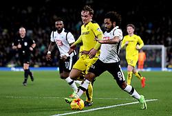 Ikechi Anya of Derby County goes past Lasse Vigen Christensen of Burton Albion - Mandatory by-line: Robbie Stephenson/JMP - 21/02/2017 - FOOTBALL - iPro Stadium - Derby, England - Derby County v Burton Albion - Sky Bet Championship