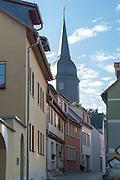 Friedensgasse, Jakobskirche, Weimar, Thüringen, Deutschland   Friedensgasse, Weimar, Thuringia, Germany