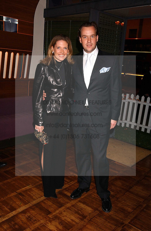 SVEN &amp; ZOE LEY he is heir to the Escada fashion empire at a party to celebrate the publication of 'E is for Eating' by Tom Parker Bowles held at Kensington Place, 201 Kensington Church Street, London W8 on 3rd November 2004.<br />