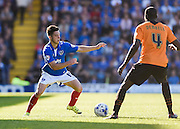 Portsmouth match winner Conor Chaplin on the ball during the Sky Bet League 2 match between Portsmouth and Barnet at Fratton Park, Portsmouth, England on 12 September 2015. Photo by David Charbit.