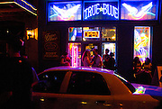 The True Blue tattoo parlour in Austin Texas, open during the nighttime activities of the South by Southwest music conference, March 15, 2008.