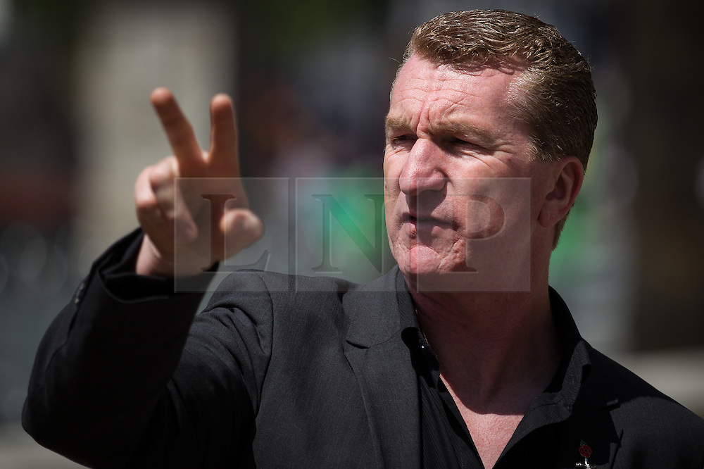 © Licensed to London News Pictures . FILE PICTURE DATED 27/05/2013 of EDL co-leader KEVIN CARROLL at an EDL demonstration in London as today (8th October 2013) EDL leader Stephen Yaxley-Lennon (aka Tommy Robinson ) and co-leader Kevin Carroll have announced they are leaving the group . Photo credit : Joel Goodman/LNP