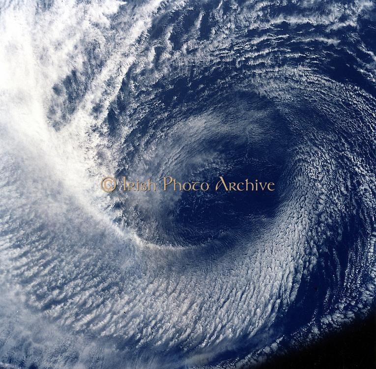 Eye of tropical storm 'Blanca' photographed between 17 and 24 June 1985. NASA