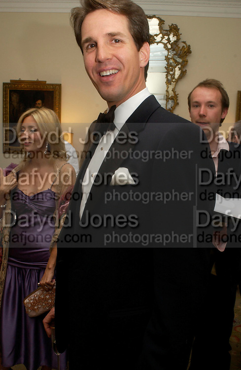 Prince and Princess Pavlos of Greece. An Evening in honour of Salvatore Ferragamo hosted by the Ambassador of Italy. The Italian Embassy, 4 Grosvenor Square. London W1. 8 June 2005. ONE TIME USE ONLY - DO NOT ARCHIVE  © Copyright Photograph by Dafydd Jones 66 Stockwell Park Rd. London SW9 0DA Tel 020 7733 0108 www.dafjones.com