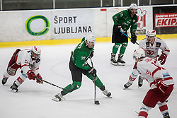 Ropret Anze of HK Olimpija  during Ice Hockey match between HK SZ Olimpija and EC KAC II during 1st round of Alps Hockey League 2019/20, on September 14, 2019, in Hala Tivoli, Ljubljana, Slovenia. Photo by Grega Valancic