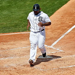 March 14, 2012; Lakeland, FL, USA; Detroit Tigers first baseman Prince Fielder (28) during a spring training game against the New York Mets at Joker Marchant Stadium. Mandatory Credit: Derick E. Hingle-US PRESSWIRE