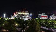 Apr 25, 2019; Nashville, TN, USA; General overall view of Nissan Stadium, the home of the Tennessee Titans, and the Cumberland River. (Brian Villanuevai/Image of Sport)