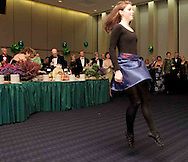 "Megan Dunn, 14, of Beavercreek, from the Celtic Academy of Irish Dance performs at ""A Celtic Fantasy,"" the Opera Guild of Dayton's gala at Sinclair's Ponitz Center, Saturday night, March 17th."