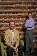 Roger Thomas and Gino Capito with Telecomp Inc., in Bentonville, Ark.<br />