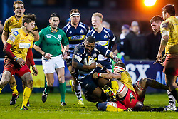Bristol Rugby replacement Jamal Ford-Robinson - Mandatory byline: Rogan Thomson/JMP - 17/01/2016 - RUGBY UNION - Clifton Rugby Club - Bristol, England - Scarlets Premiership Select XV v Bristol Rugby - B&I Cup.