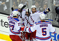 Ishockey , 07 June 2014 The Rangers Celebrate their Second Goal of The Game by New York Rangers Right Wing Mats Zuccarello 36  during Game 2 of The Stanley Cup Final between The New York Rangers and The Los Angeles Kings AT Staples Center in Los Angeles Approx NHL Ice hockey men USA Jun 07 Stanley Cup Final Rangers AT Kings Game 2 <br />