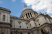 St Paul's Cathedral is the Anglican cathedral on Ludgate Hill, in the City of London, and the seat of the Bishop of London. The present building dates from the 17th century and is generally reckoned to be London's fifth St Paul's Cathedral, not counting every major medieval reconstruction as a new cathedral. The cathedral sits on the highest point of the City of London, which originated as the Roman trading post of Londinium situated on the River Thames. The cathedral is one of London's most visited sights.
