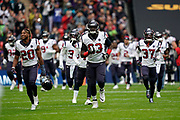 Houston Texans enter Wembley Stadium during the International Series match between Jacksonville Jaguars and Houston Texans at Wembley Stadium, London, England on 3 November 2019.