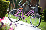Girls Pink Bicycle Stock Photo