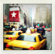 Macys and yellow cabs, New York..From the series Fake Polaroids. ...photo © Stefan Falke....