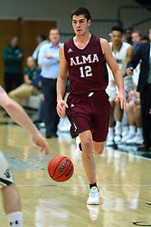 17 November 2017: Ryan Stevens  during an College men's division 3 CCIW basketball game between the Alma Scots and the Illinois Wesleyan Titans in Shirk Center, Bloomington IL