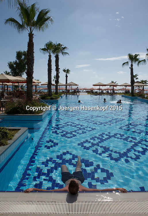 mybigpoint Tenniscamp im Ali Bey Resort, Side.<br /> <br /> travel -  -  -  Ali Bey Resort Side - Side - Antalya - Tuerkei  - 28 September 2015. <br /> &copy; Juergen Hasenkopf