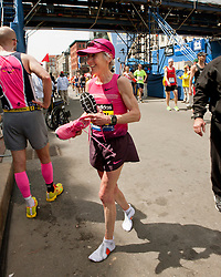 2013 Boston Marathon: Joan Samuelson finishes
