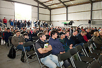 "The large crowds at one of the disease prevention talks at Sheep 2012 ""The Way Forward""  at Teagasc, Mellows Campus, Athenry, Co. Galway Photo: Andrew Downes.."