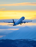 The morning Air Canada flight departs Whitehorse for Vancouver