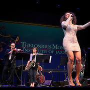 Roberta Gambarini sings &quot;Lover Come Back to Me&quot; in a tribute to Anita O Day at the 25th annual Thelonious Monk International Jazz Competition and ?Women, Music and Diplomacy? All-Star Gala Concert at the Kennedy Center presented by the world-renowned Thelonious Monk Institute of Jazz. <br /> <br /> Secretary Albright received the Maria Fisher Founder's Award in recognition of her support of the Institute, jazz education, and the role jazz plays in diplomatic efforts worldwide.