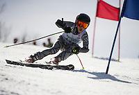 Piches Invitational U14 mens Giant Slalom with Gunstock Ski Club.  ©2016 Karen Bobotas Photographer