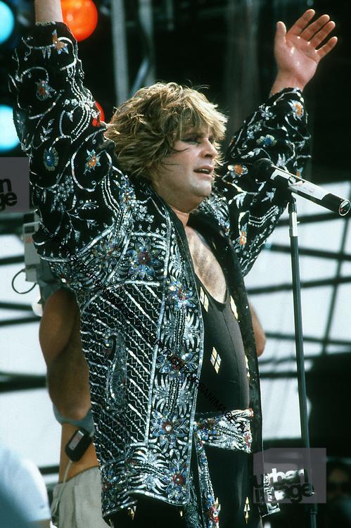 Ozzie Osbourne at the Live Aid Concert at J.F.K. Stadium in Philadelphia on 13th July 1985.