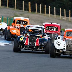 KNOCKHILL Scottish Motor Racing Club meeting..David Hunter leads from David Newall...(c) STEPHEN LAWSON | StockPix.eu