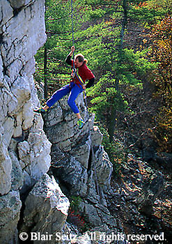 Outdoor recreation, Rock Climbing, Repelling, Pole Steeple, Pine Grove Furnace State Park, Cumberland Co. PA