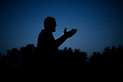 Shadow Drum and Bugle Corps rehearses in Michigan City, Indiana on August 5, 2018. <br /> <br /> Beth Skogen Photography - www.bethskogen.com