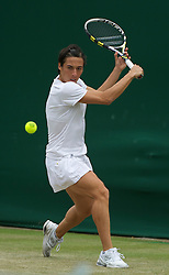 LONDON, ENGLAND - Friday, June 24, 2011: Francesca Schiavone (ITA) in action during the Ladies' Singles 3rd Round match on day five of the Wimbledon Lawn Tennis Championships at the All England Lawn Tennis and Croquet Club. (Pic by David Rawcliffe/Propaganda)
