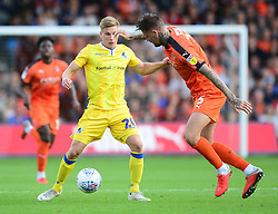 Gavin Reilly of Bristol Rovers puts pressure on Sonny Bradley of Luton Town - Mandatory by-line: Alex James/JMP - 15/09/2018 - FOOTBALL - Kenilworth Road - Luton, England - Luton Town v Bristol Rovers - Sky Bet League One