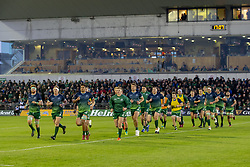 November 3, 2018 - Galway, Ireland - Connacht players pictured before the Guinness PRO14 match between Connacht Rugby and Dragons at the Sportsground in Galway, Ireland on November 3, 2018  (Credit Image: © Andrew Surma/NurPhoto via ZUMA Press)