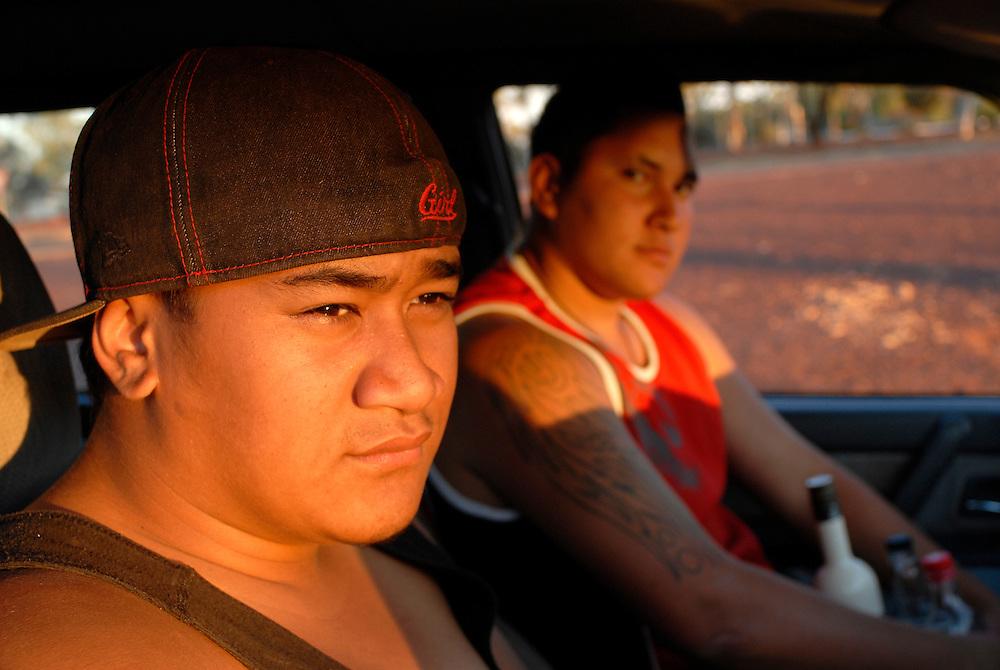 Junior Avci and Brendan Taiki - Laverton Roadhouse Western Australian Goldfields September 28 2006