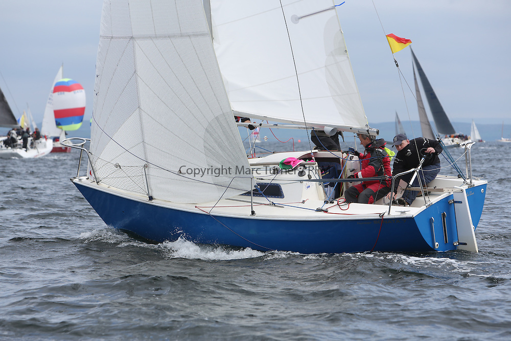 The Silvers Marine Scottish Series 2014, organised by the  Clyde Cruising Club,  celebrates it's 40th anniversary.<br /> Day 2, GBR8171N, Out of the Blue, Colin Greer,  Helensburgh SC<br /> Racing on Loch Fyne from 23rd-26th May 2014<br /> <br /> Credit : Marc Turner / PFM