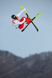 February 18, 2018 - Pyeongchang, South Korea - TAISAI YAMAMOTO of Japan competes in Mens Ski Slopestyle qualifications Sunday, February 18, 2018 at Phoenix Snow Park at the Pyeongchang Winter Olympic Games.  Yamamoto did not make the final. Photo by Mark Reis, ZUMA Press/The Gazette (Credit Image: © Mark Reis via ZUMA Wire)