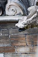 Milan, Italy, Duomo Cathedral - stone griffin gargoyle.