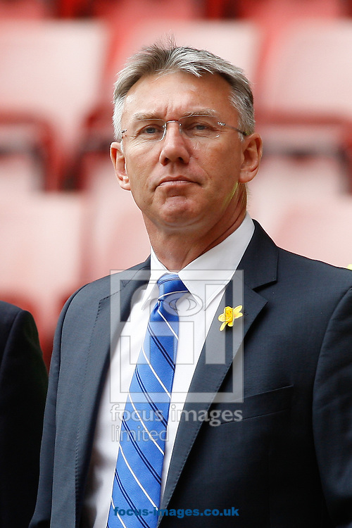 Reading manager Nigel Adkins looks on before the Sky Bet Championship match at The Valley, London<br /> Picture by Andrew Tobin/Focus Images Ltd +44 7710 761829<br /> 05/04/2014