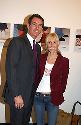 ALEXANDRA VON FURSTENBURG who is separated from her husband Austrian Prince Alexander von Furstenberg and TIM JEFFERIES at an exhibition of photographs by Matthew Mellon entitled Famous Feet - featuring well known people wearing shoes from Harrys of London, held at Hamiltons Gallery, Carlos Place, London on 22nd November 2004.<br />