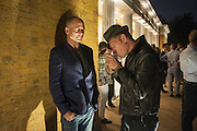 DINOS CHAPMAN; PAUL SIMONON, VIP opening  of the new Serpentine Sackler Gallery designed by Zaha Hadid . Kensinton Gdns. London. 25 September 2013