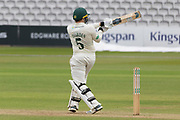 Harry Dearden hits a boundary during the Specsavers County Champ Div 2 match between Middlesex County Cricket Club and Leicestershire County Cricket Club at Lord's Cricket Ground, St John's Wood, United Kingdom on 17 May 2019.