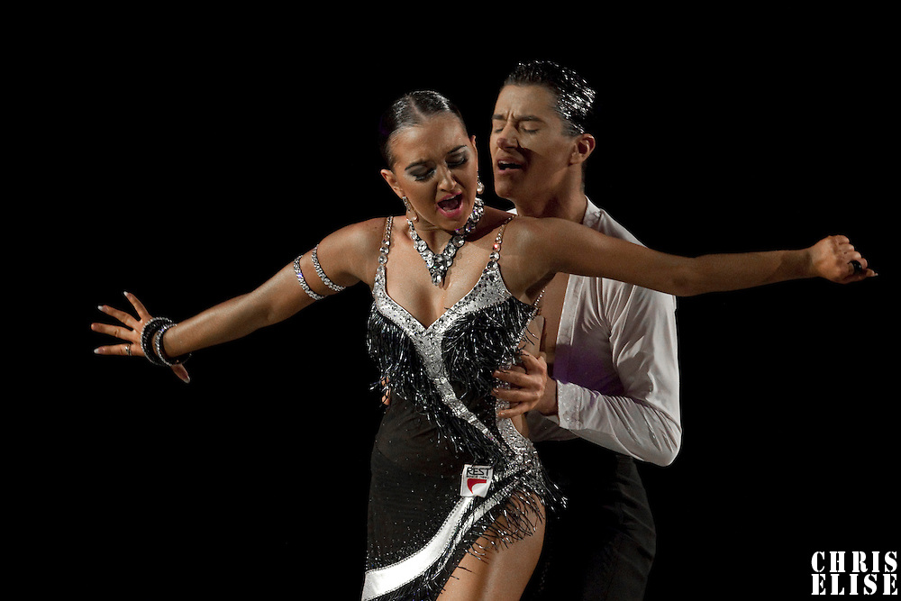 23 January 2010: Elena Salikohva and Charles-Guillaume Schmitt perform during the Masters Bercy Latin and Ballroom (standard) Dancesport Championship 2010, at Palais Omnisports Paris Bercy, in Paris, France. .