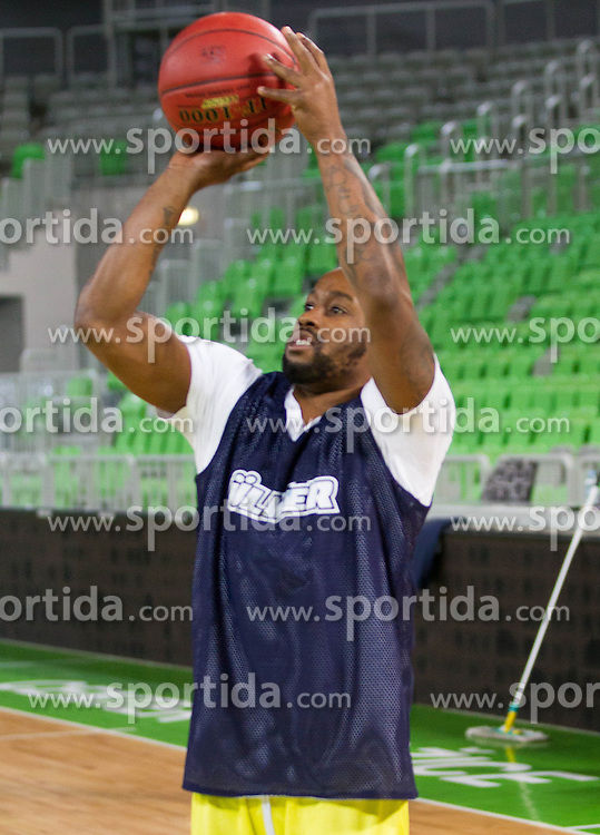 Bo McCalebb during practice session of Fenerbahce Ulker Istanbul (TUR)  1 day before Euroleague Basketball match against KK Union Olimpija on October 18, 2012 in Arena Stozice, Ljubljana, Slovenia. (Photo By Vid Ponikvar / Sportida)