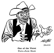 Punch cartoons by Robert Sherriffs..Film Review ; ..Rawhide ; Jack Elam..