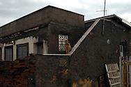 Roma 22  Febbraio 2010.Idroscalo di Ostia, un cane di guardia ad una casa